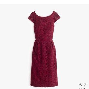 J. Crew Elsa Dress, Dark Wine, size 14